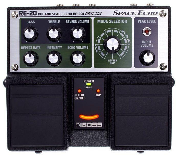 Pedal de Efeito Boss Space Echo RE20 Duplo para Guitarra