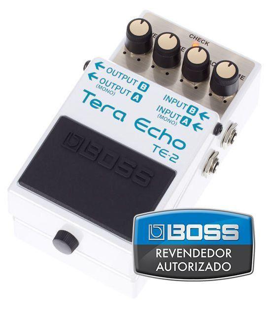 Pedal de Efeito Boss Tera Echo Delay TE2 para Guitarra