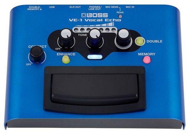 Pedal de Efeito Boss Vocal Echo VE1 para Voz