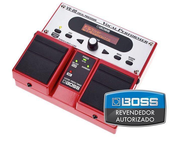 Pedal de Efeito Boss Vocal Processor VE20 Duplo para Voz