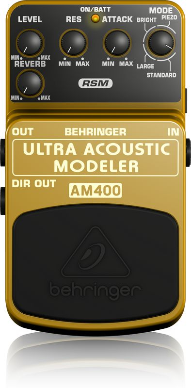 Pedal de Efeitos Behringer AM400 Ultra Acoustic Modeler para Guitarra