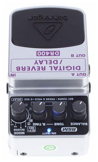 Pedal de Efeitos Behringer DR400 Digital Reverb Delay para Guitarra