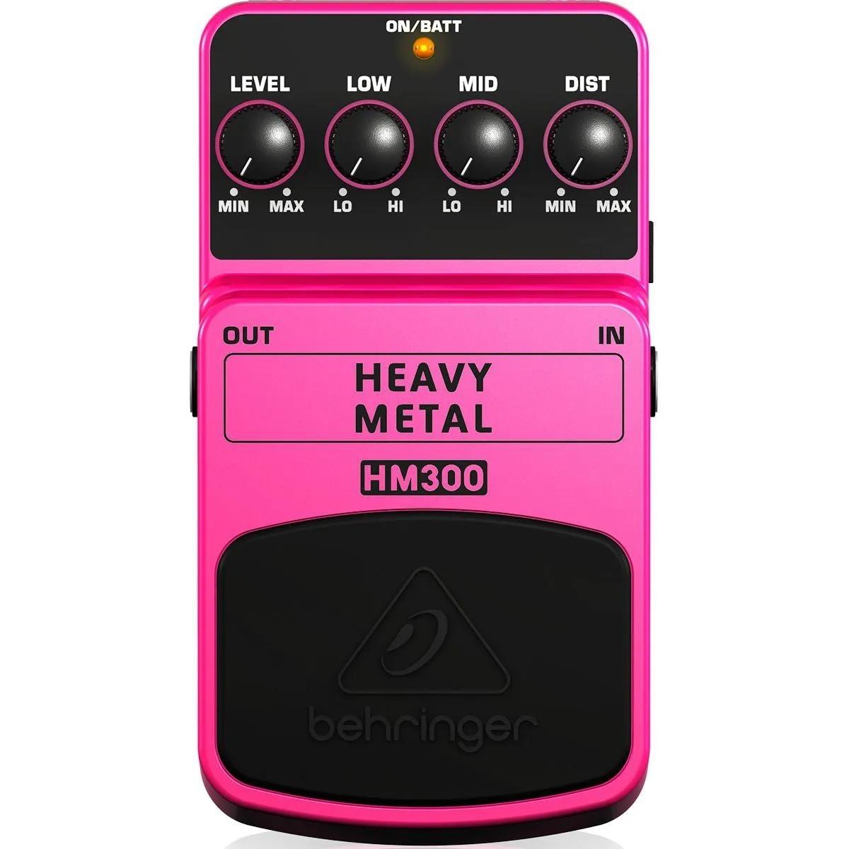 Pedal de Efeitos Behringer HM300 Heavy Metal para Guitarra