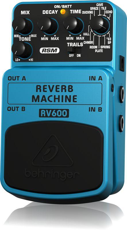 Pedal de Efeitos Behringer RV600 Reverb Machine para Guitarra