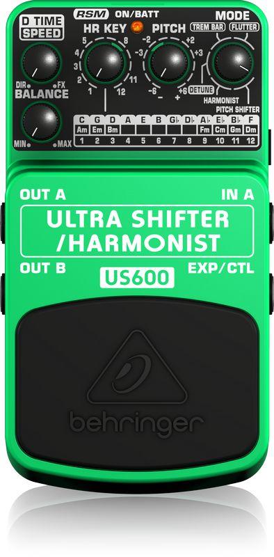 Pedal de Efeitos Behringer US600 Ultra Shifter Harmonist para Guitarra