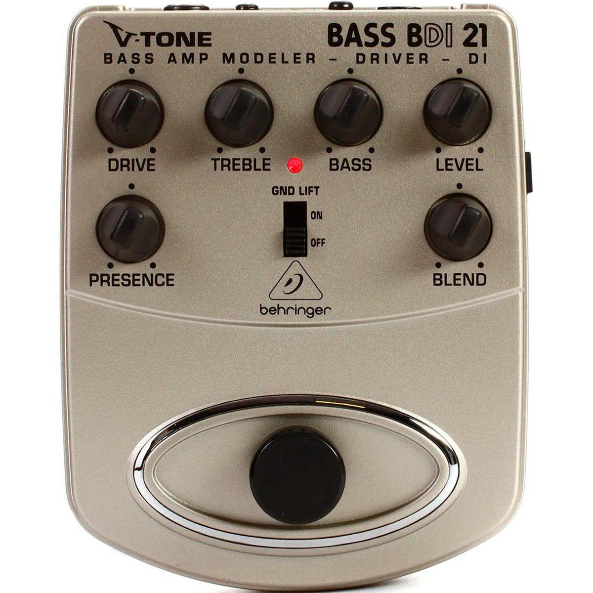 Pedal de Efeitos Behringer V-Tone Bass BDI21 Driver DI