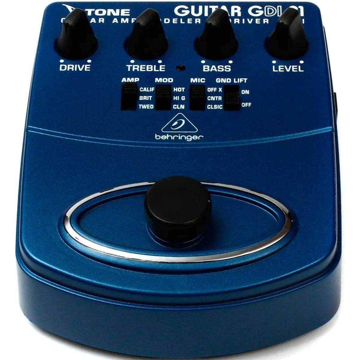 Pedal de Efeitos Behringer GDI21 V-Tone Guitar Driver DI