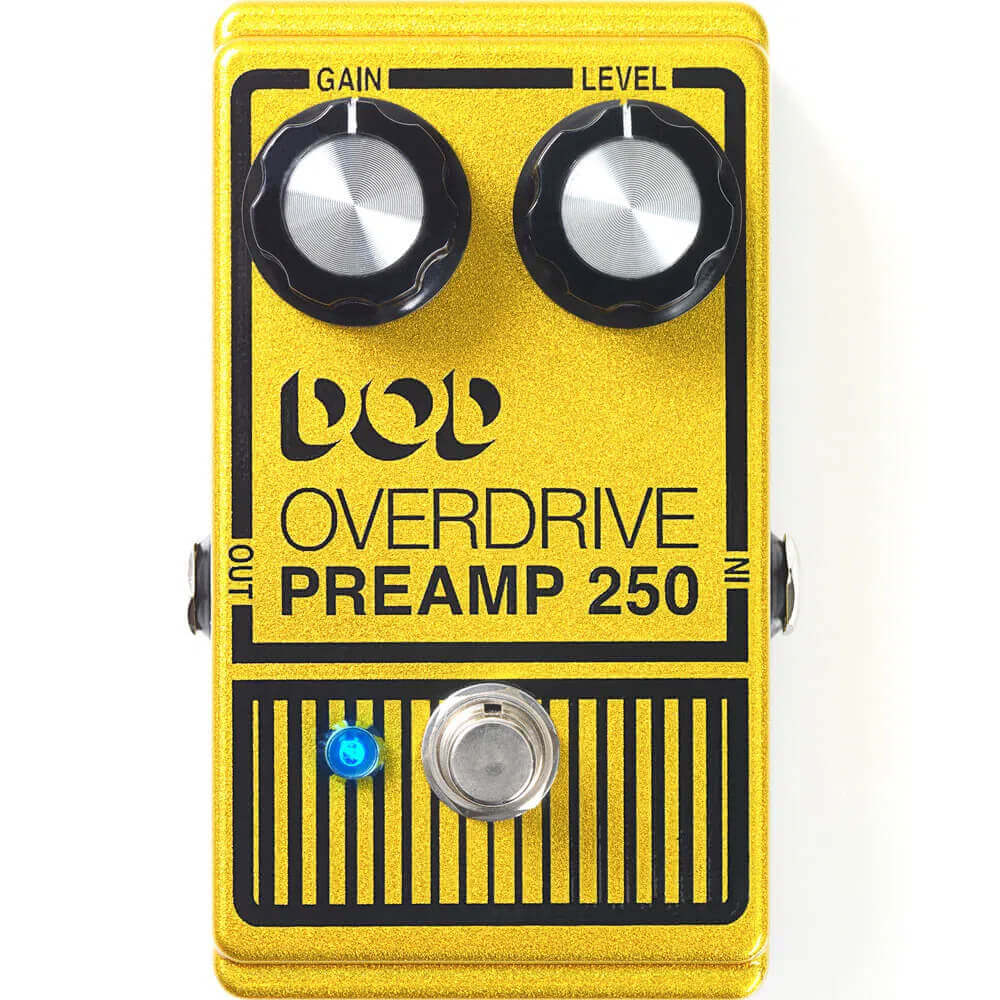 Pedal de Efeitos DOD Overdrive Pre Amp 250 para Guitarra