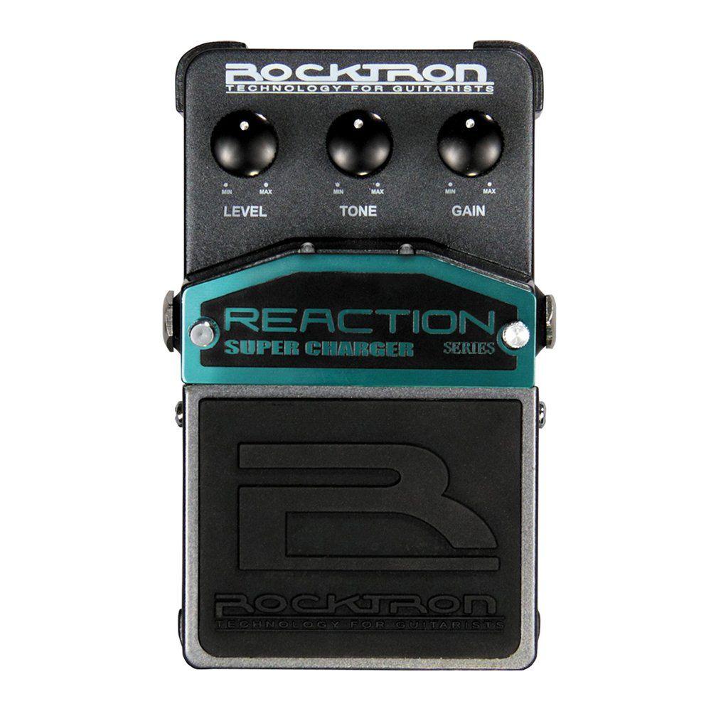 Pedal de Efeitos Rocktron Reaction Super Charger para Guitarra