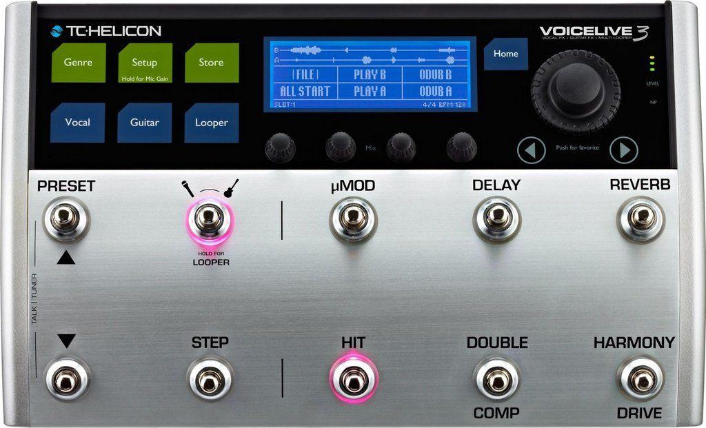 Pedal de Efeitos TC Helicon Voice Live 3 para Voz