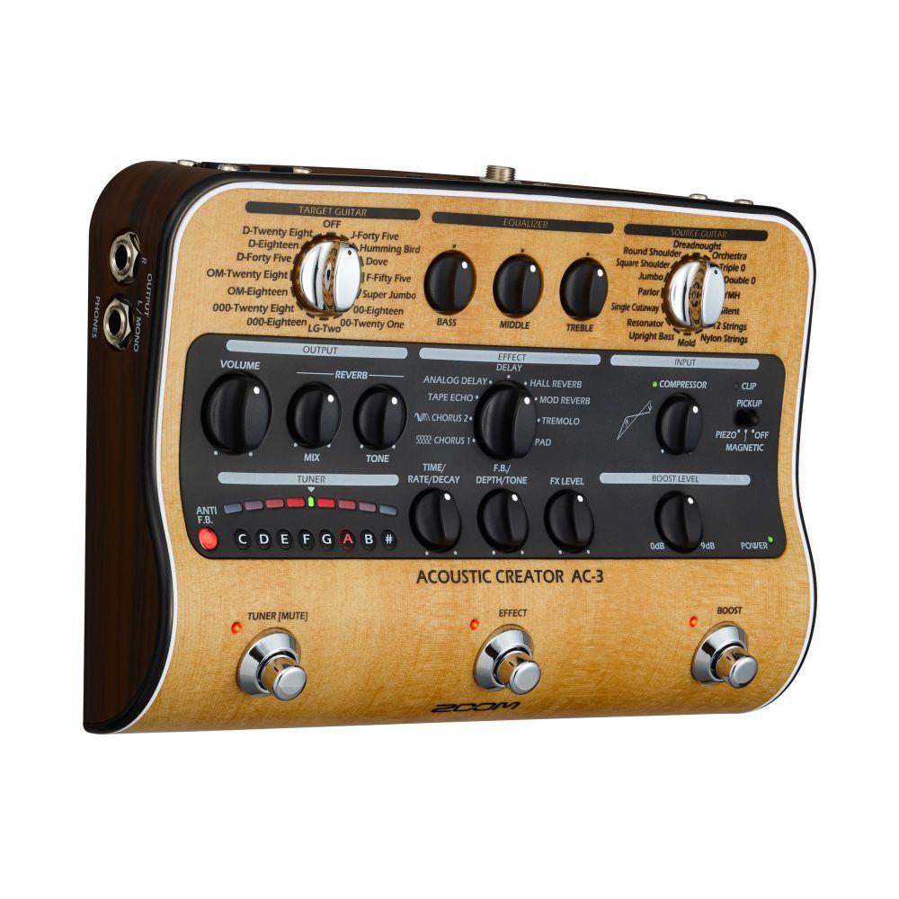 Pedaleira Acoustic Creator ZOOM AC-3  para Violão