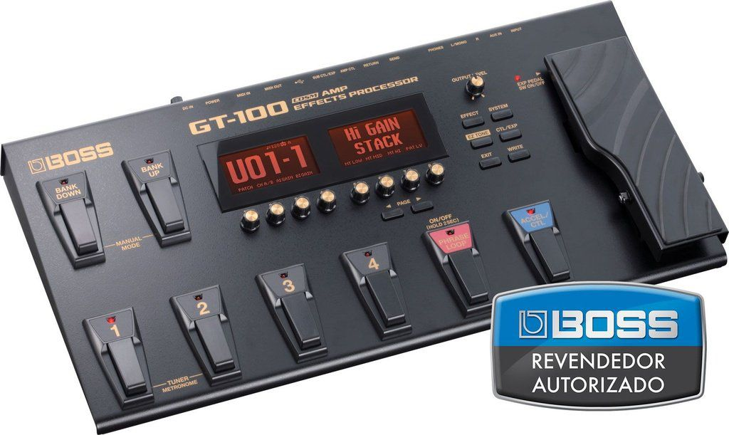 Pedaleira Boss Effects Processor GT100 para Guitarra