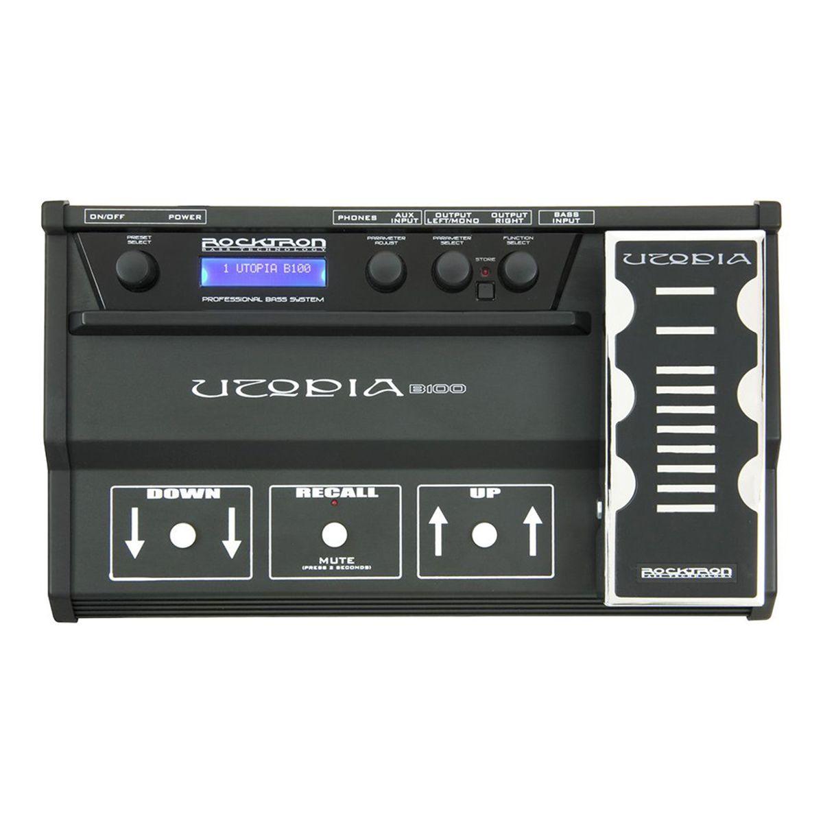 Pedaleira Multi-Efeitos Rocktron Utopia Bass B100