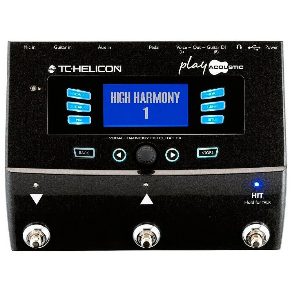 Pedaleira Multi-Efeitos TC Helicon Play Acoustic para Voz