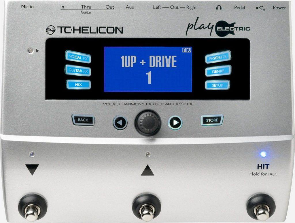 Pedaleira Multi-Efeitos TC Helicon Play Electric para Voz