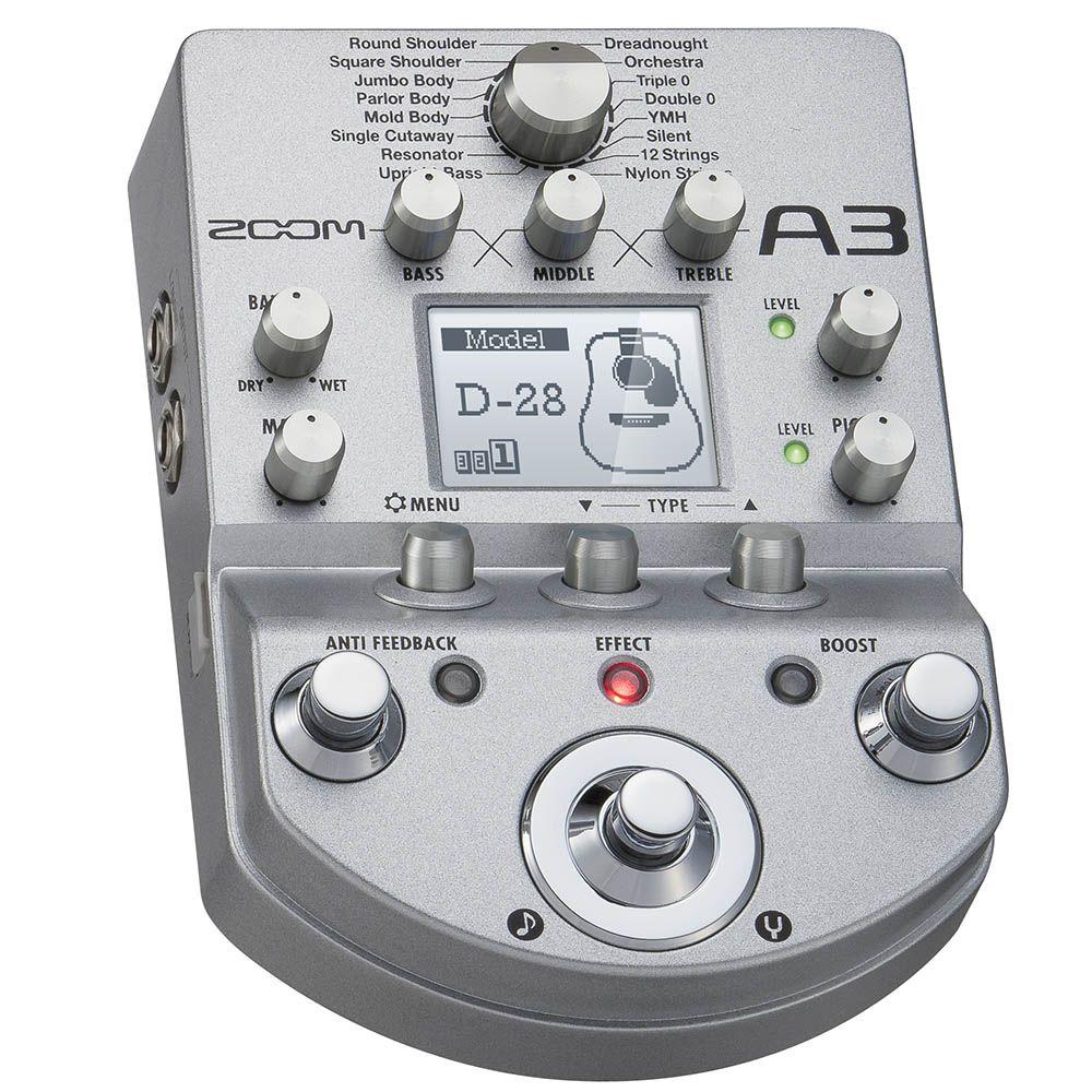 Pedaleira Zoom A3 Multi-Effects para Violão