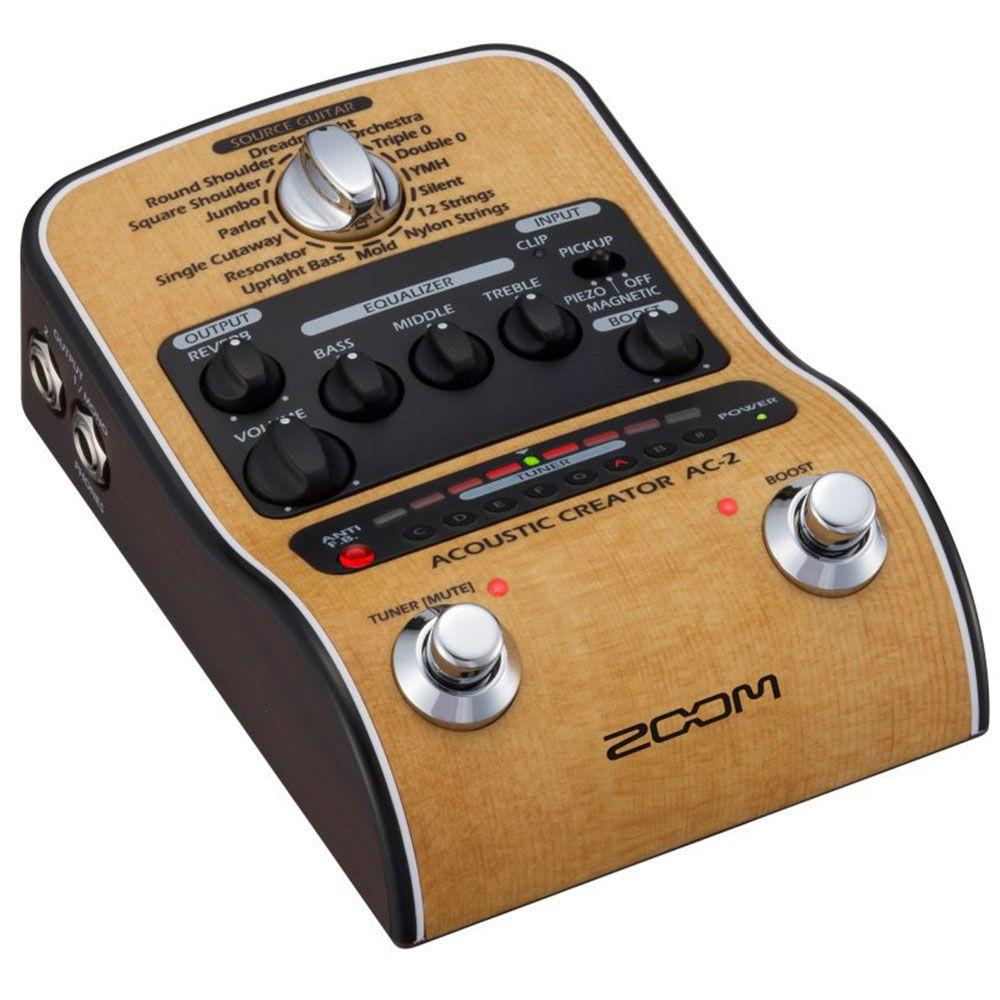 Pedaleira Zoom Acoustic Creator AC-2 para Violão