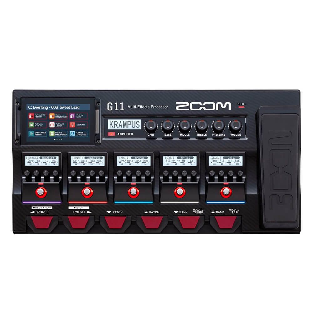 Pedaleira Zoom G11 Multi-Effects para Guitarra