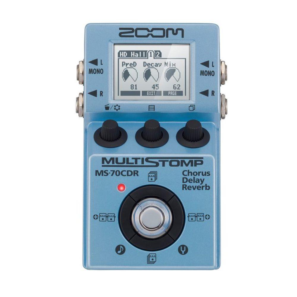 Pedaleira Zoom MultiStomp MS 70CDR para Guitarra
