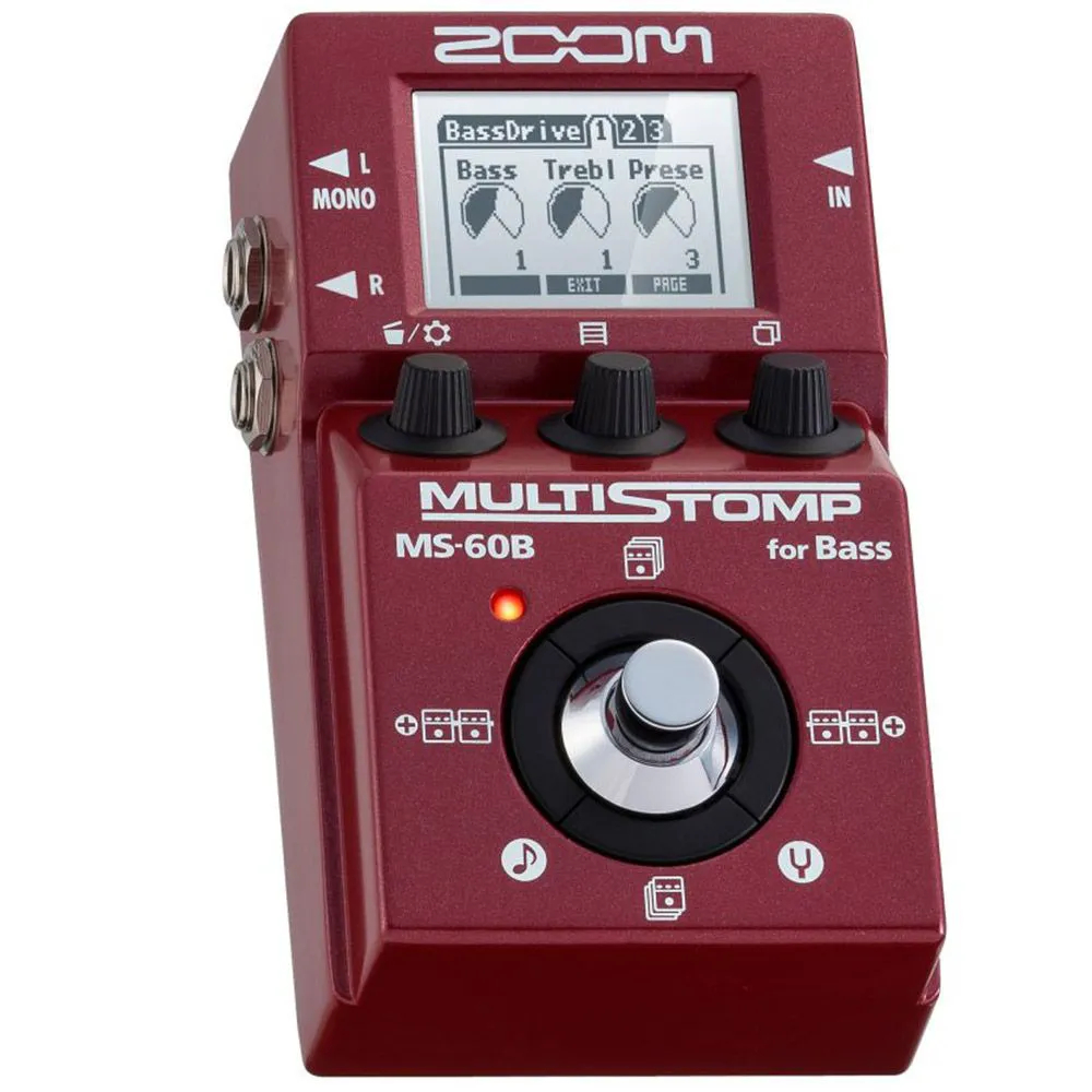 Pedaleira Zoom Stompbox MS 60B para Contrabaixo