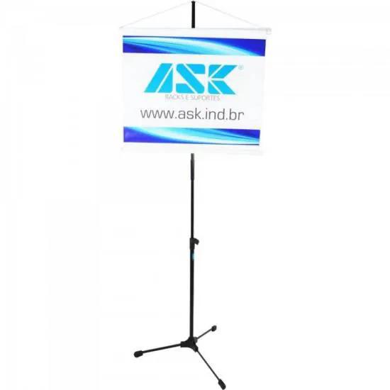 Pedestal Para Banner Com Tripé Retrátil e Extensor Removível BNR Preto ASK
