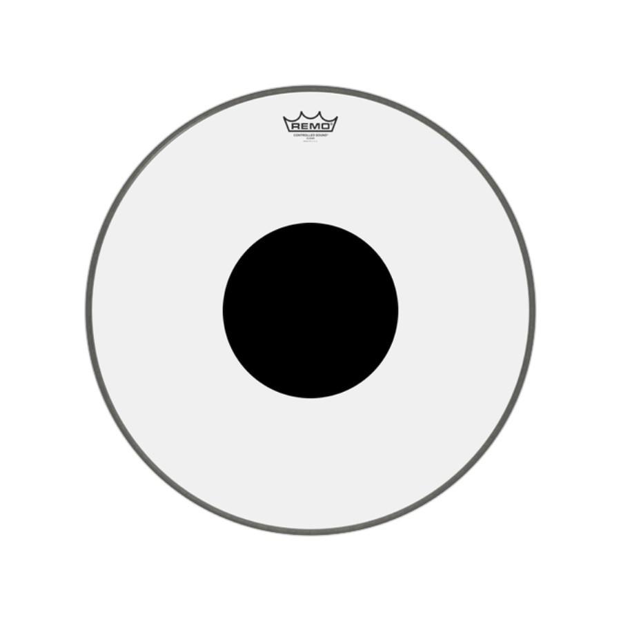 Pele P/bumbo 20 Pol Controlled Sound Transparente C/ Circulo Preto Cs-1320-10 Remo
