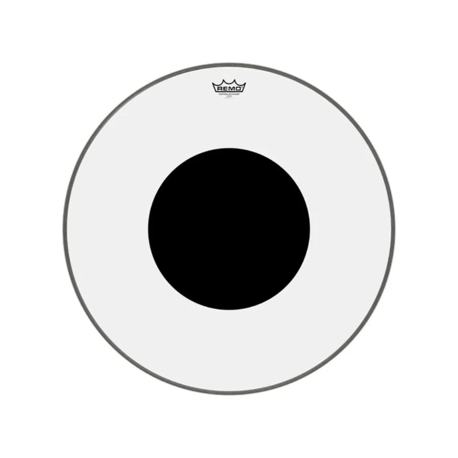 Pele P/bumbo 26 Pol Controlled Sound Transparente C/ Circulo Preto Cs-1326-10 Remo