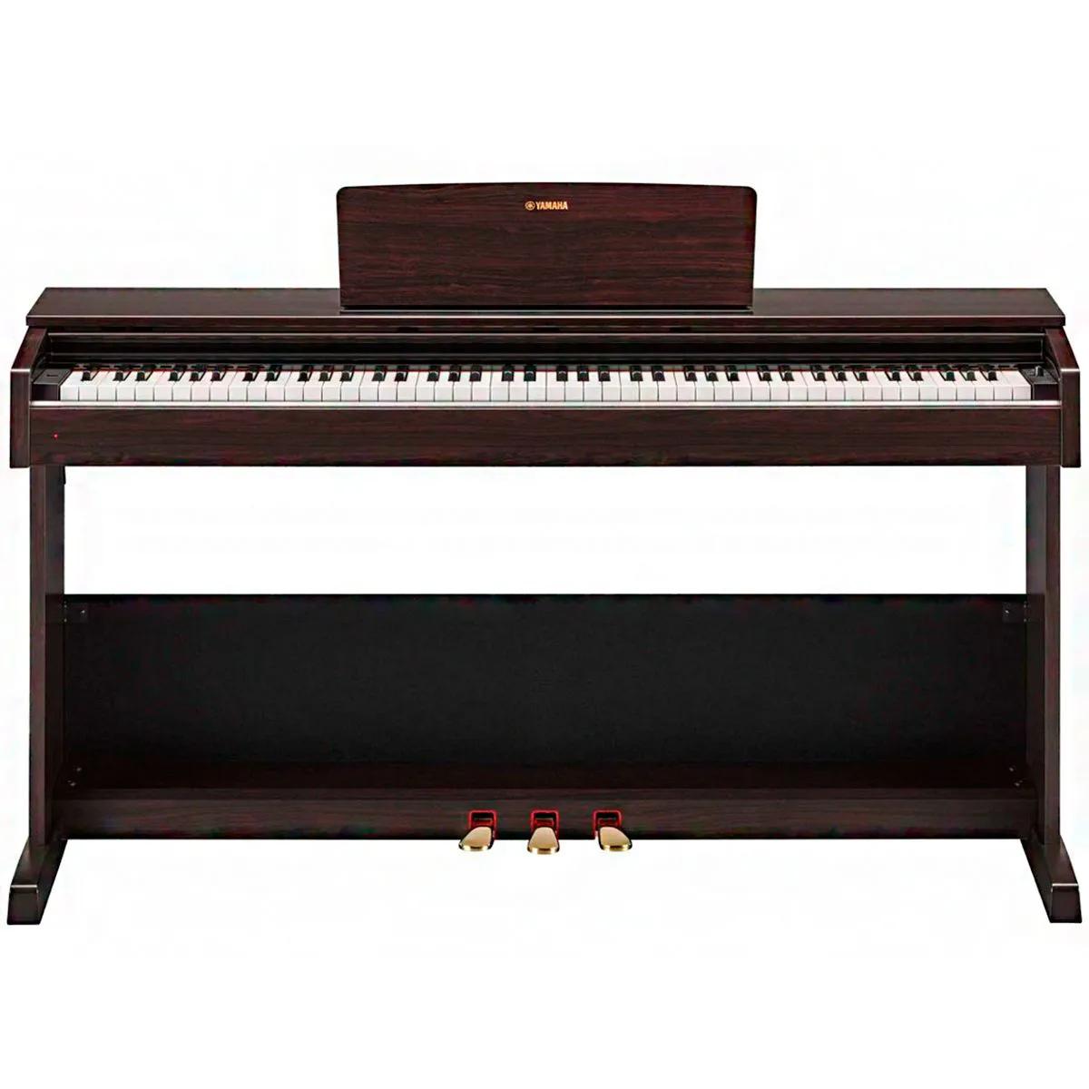 Piano Digital Yamaha Arius YDP103 USB 88 Teclas com Estante Marrom