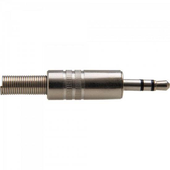 Plug P2 Estéreo de Metal Com Mola PGPD0004 Níquel STORM - PCT / 100