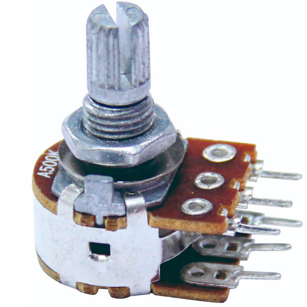 Potenciômetro Duplo A500K 500K 15/16MM Tone
