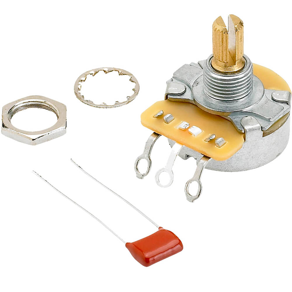 Potenciômetro Fender Pure Vintage Branco 250K Eixo Dividido
