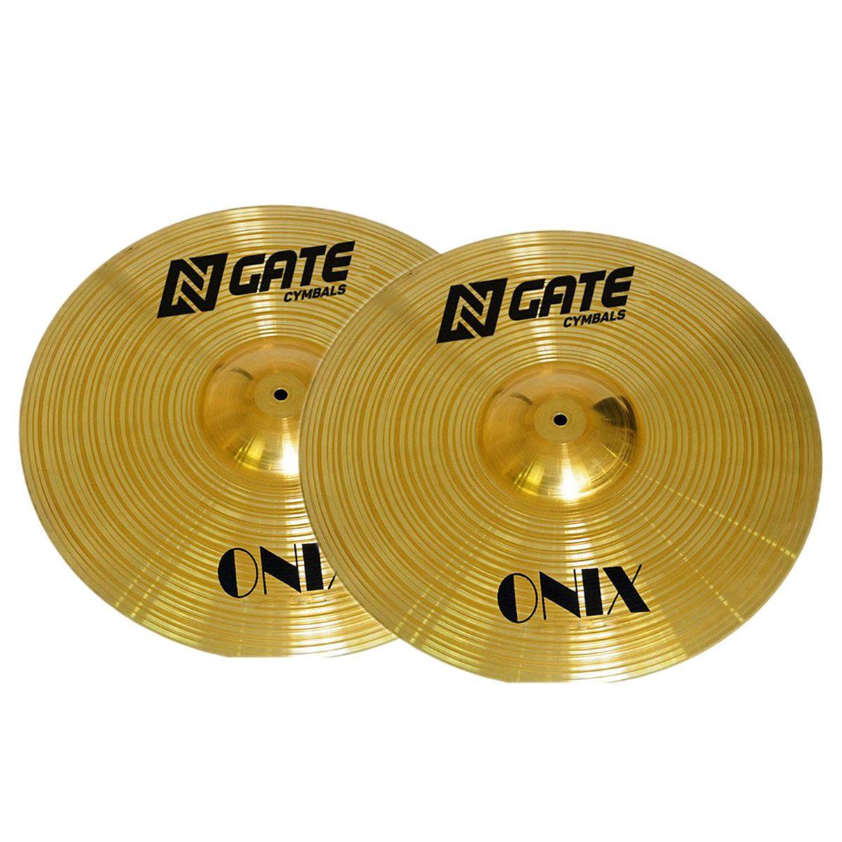 Prato Chimbal N.gate Onix Series 14 Hi-Hats para Bateria