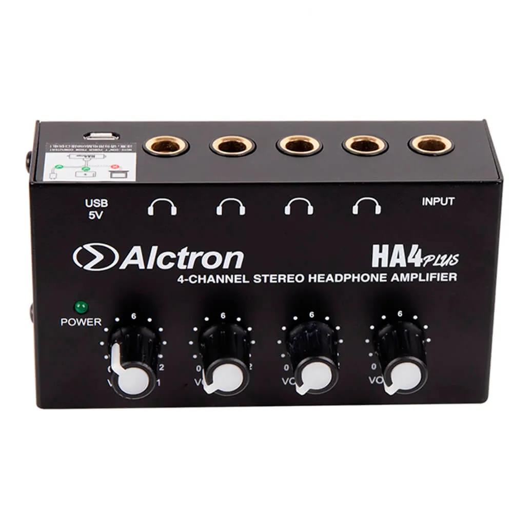 Pré Amplificador Alctron HA4 PLUS 4 Canais para Fone