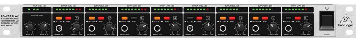 Pré Amplificador Behringer Powerplay Pro-8 HA8000