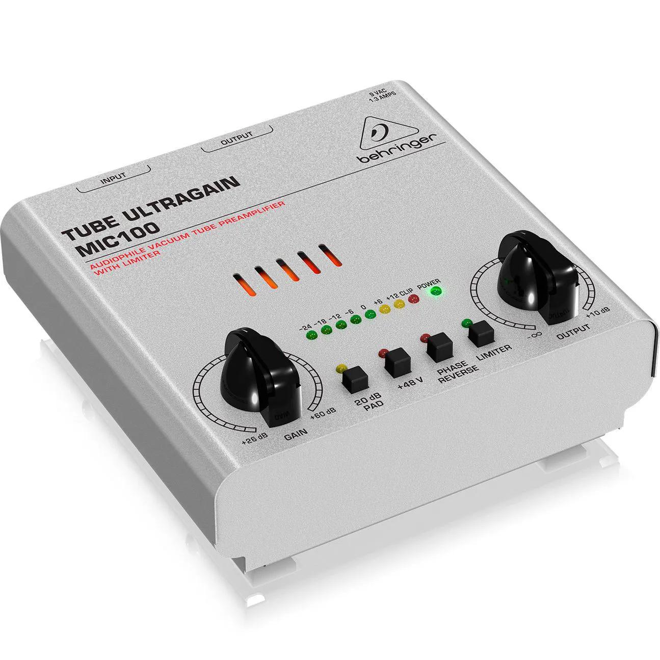Pré Amplificador Behringer Tube Ultragain MIC100