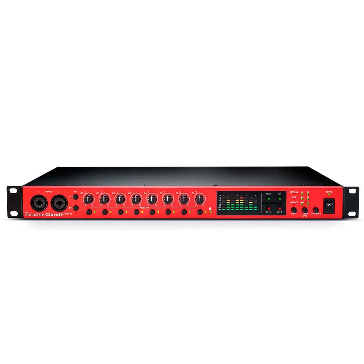 Pré Amplificador Focusrite Clarett OctoPre ADAT 8 Canais