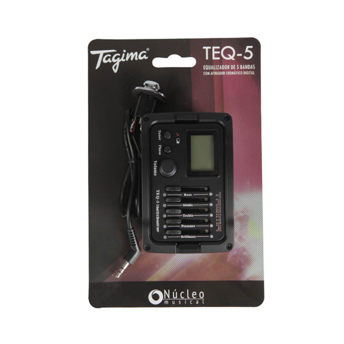 Pré Equalizador Tagima TEQ-5 com Afinador