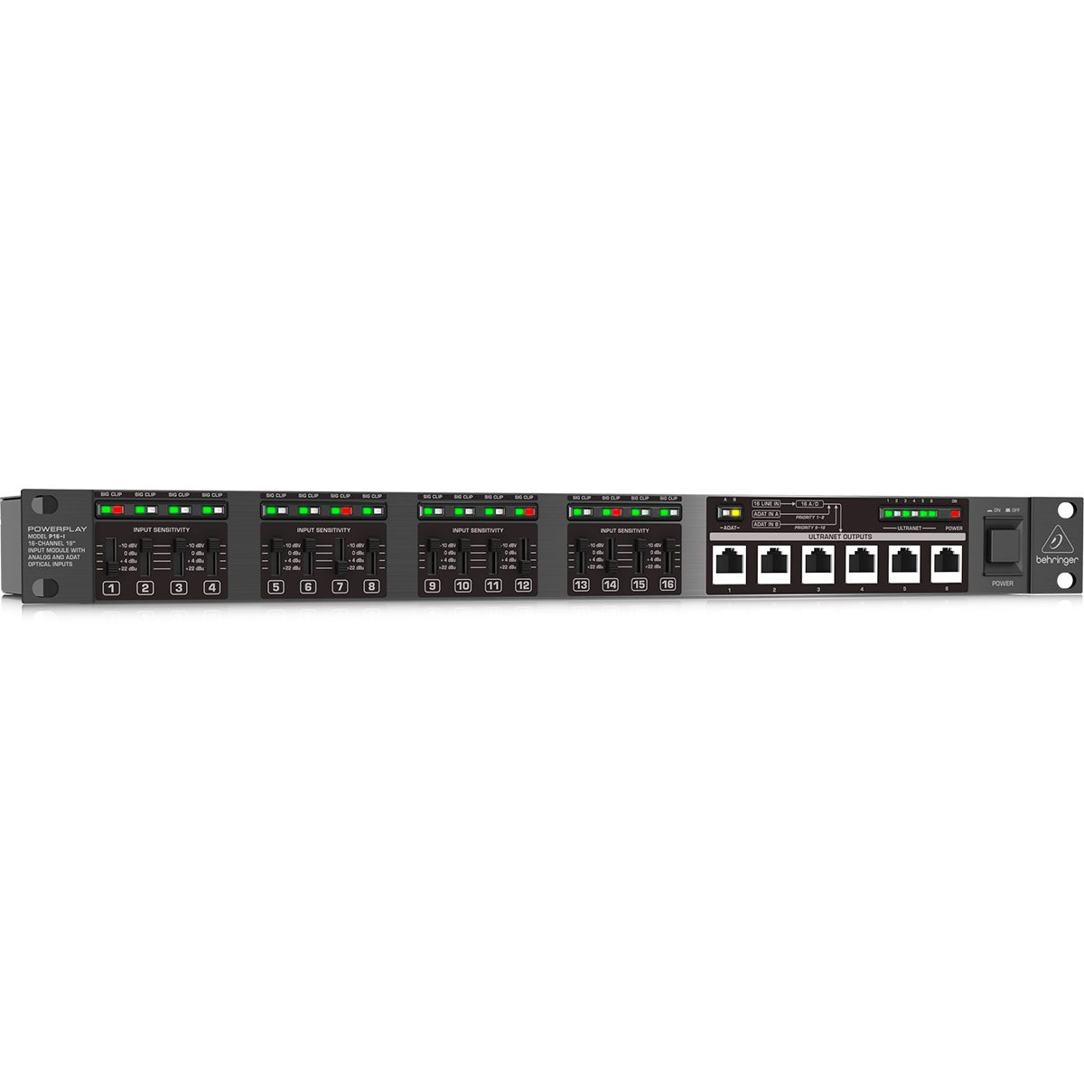 Processador de Sinal Behringer P16-I Ultranet 16 Canais