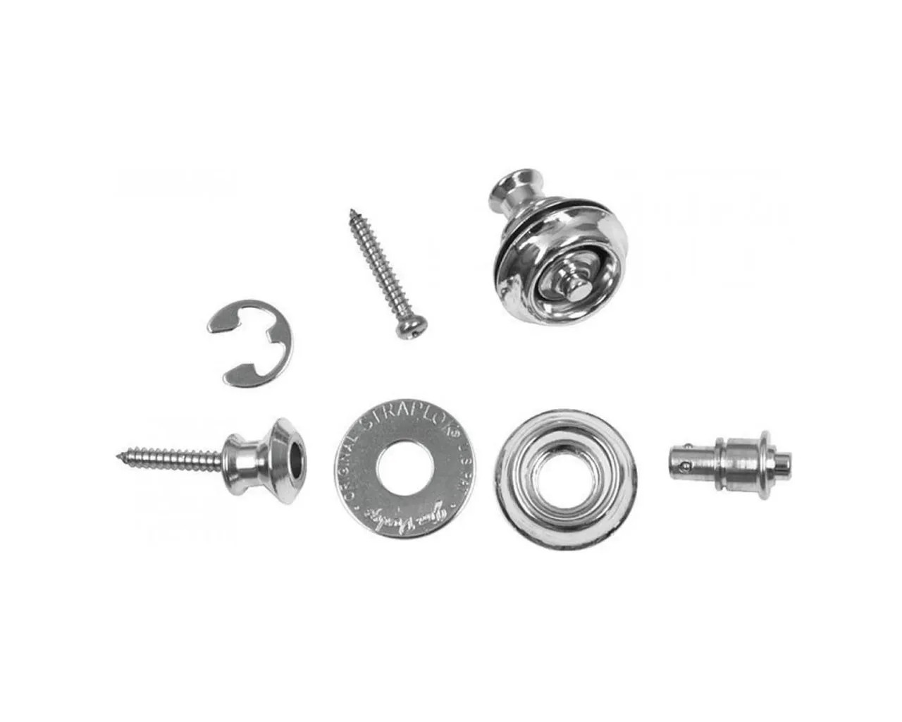 Roldana Strap Lock Original Nickel Kit Sls1101n Dunlop