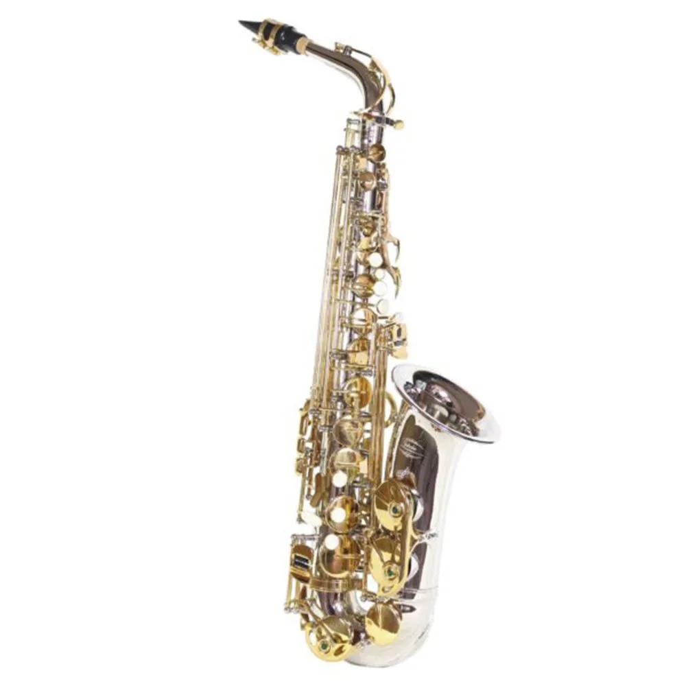 Saxofone Alto Jahnke JSAH001 Niquelado Laqueado Mi Bemol