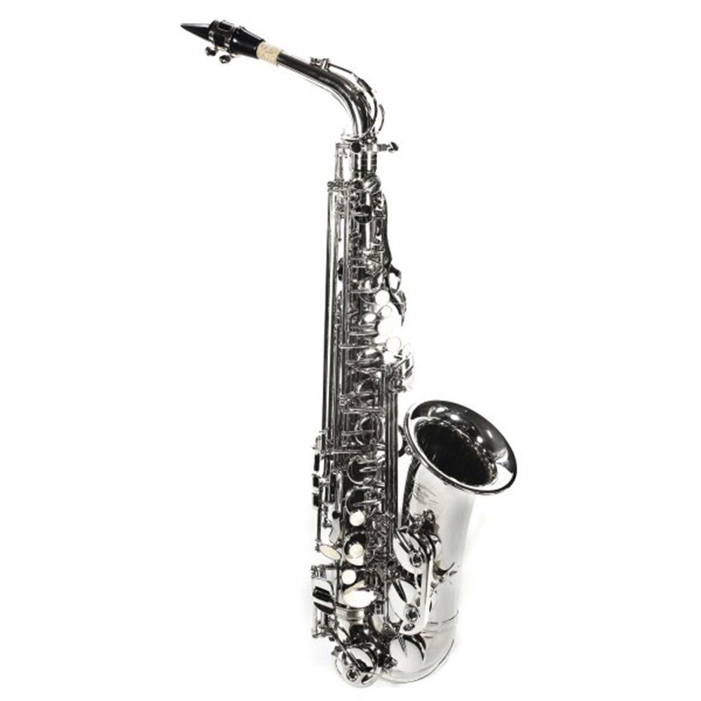 Saxofone Alto Jahnke JSAH001 Niquelado Mi Bemol