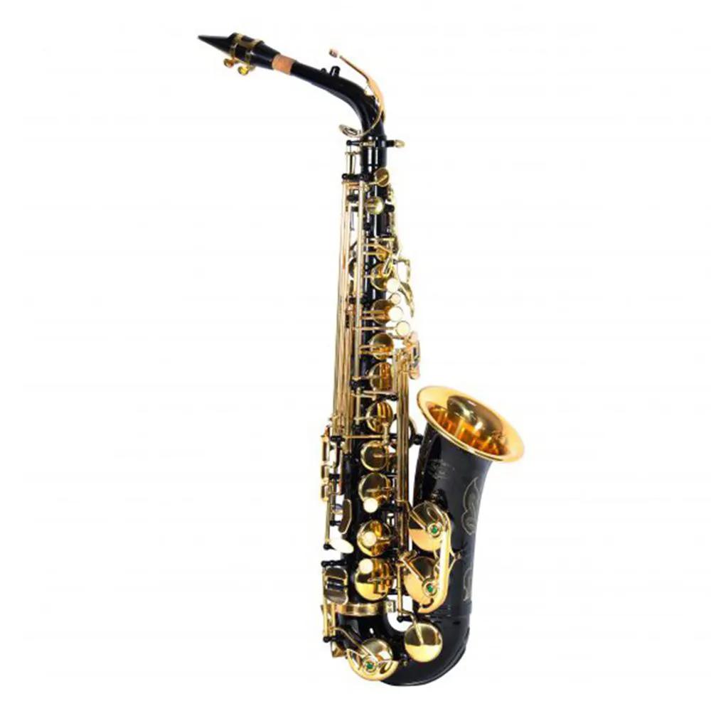 Saxofone Alto Jahnke JSAH001 Preto Laqueado Mi Bemol