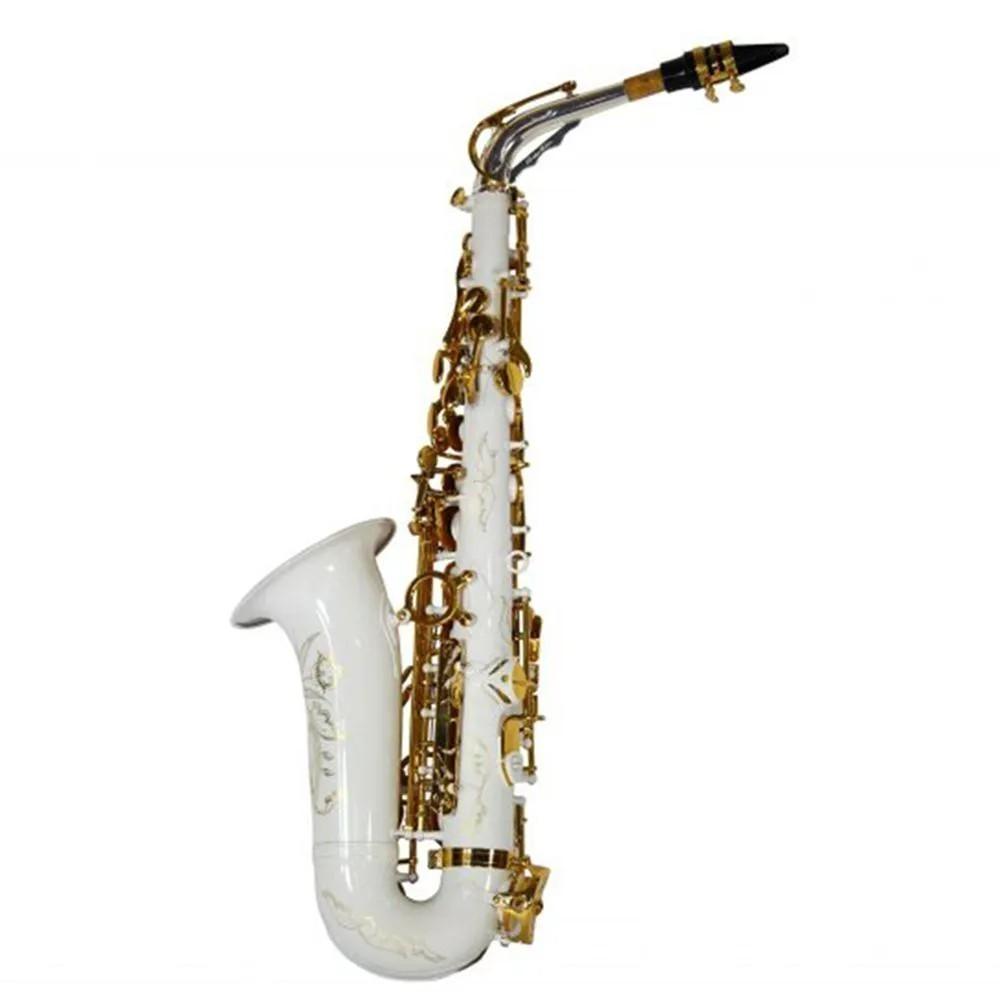 Saxofone Alto Jahnke JSAH102 Branco Dourado Mi Bemol