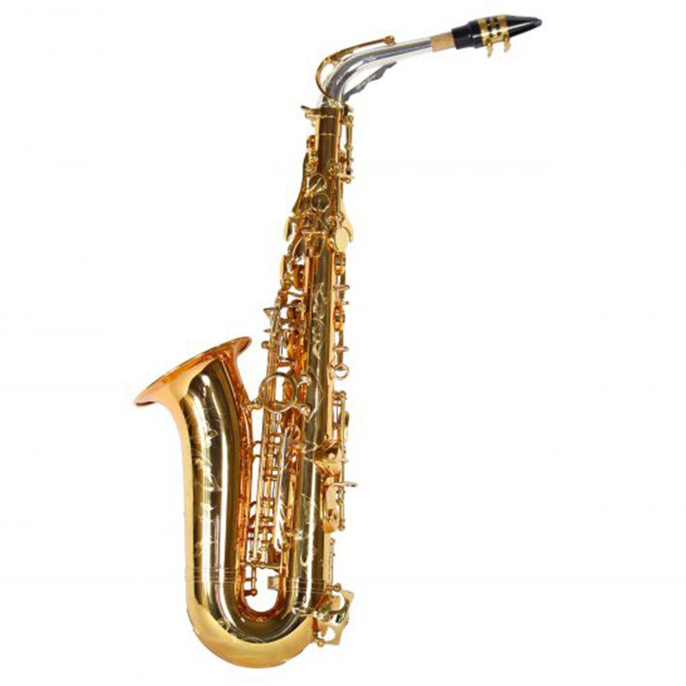 Saxofone Alto Jahnke JSAH102 Dourado Mi Bemol