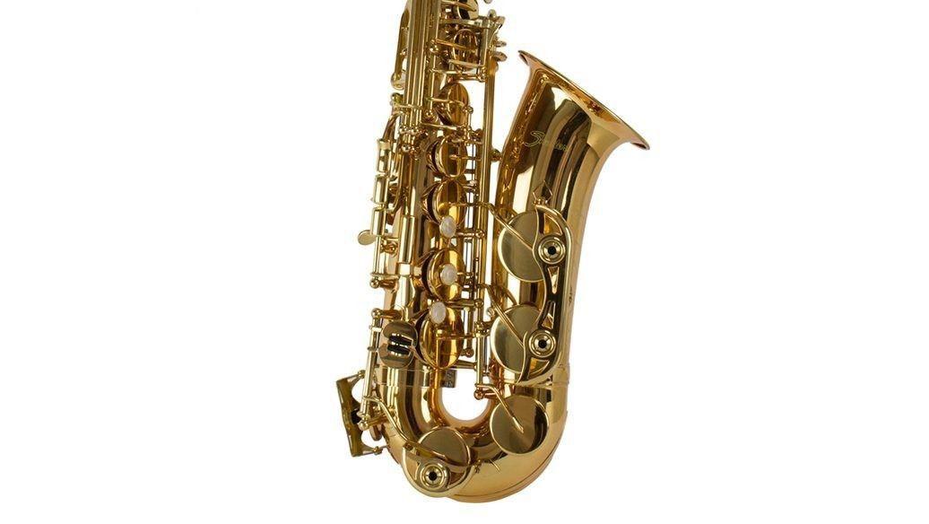 Saxofone Alto Shelter SGFT6430L Eb Laqueado Dourado com Case