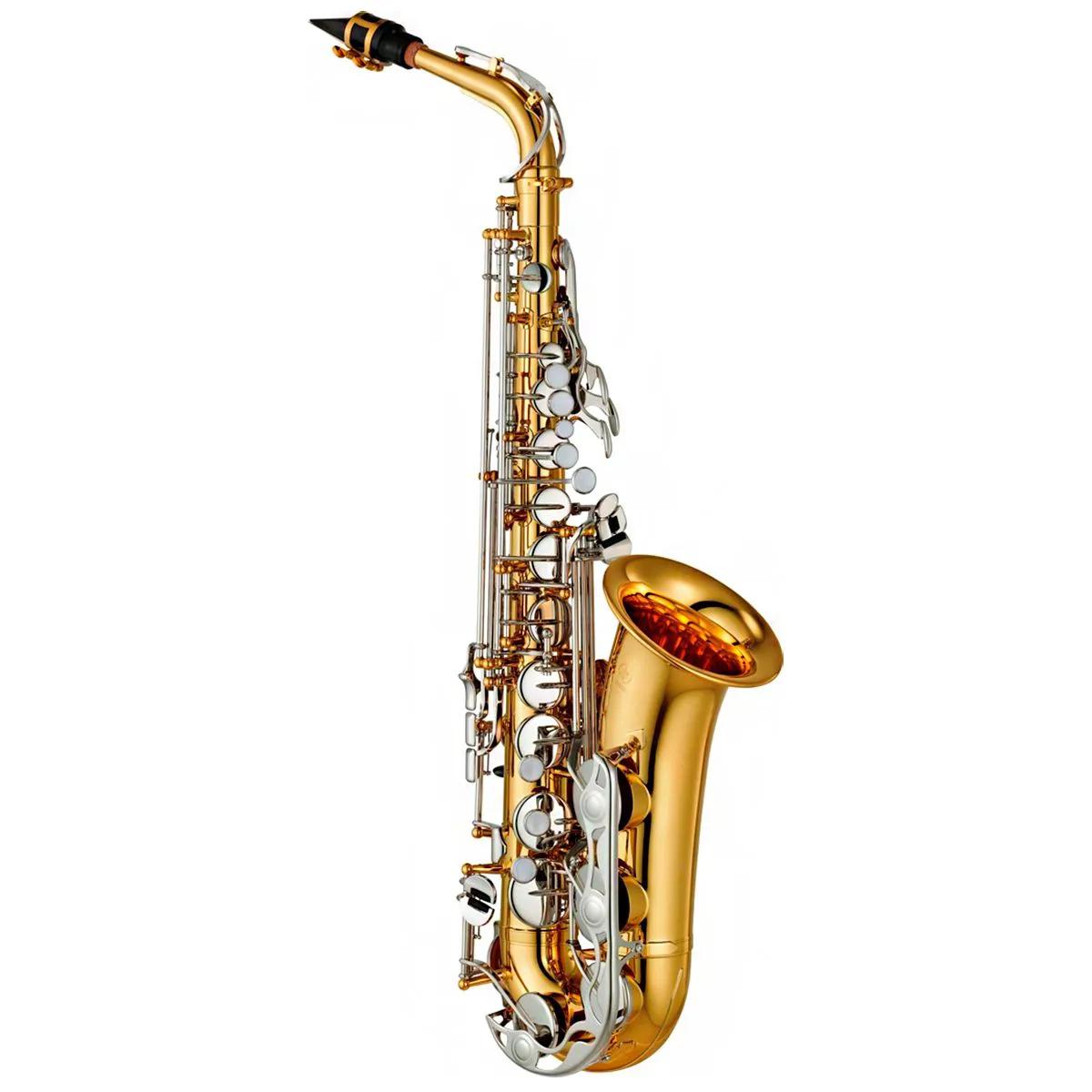 Saxofone Alto Yamaha YAS26 Eb Laqueado Dourado com Case