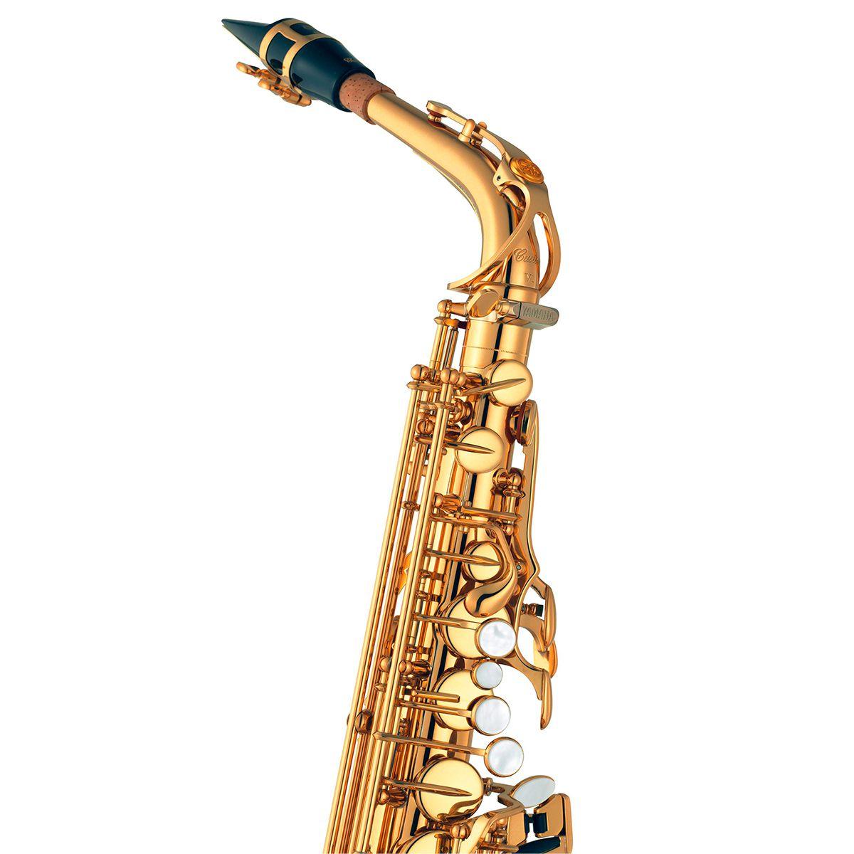 Saxofone Alto Yamaha YAS875 Ex Custom Eb Laqueado Dourado com Case