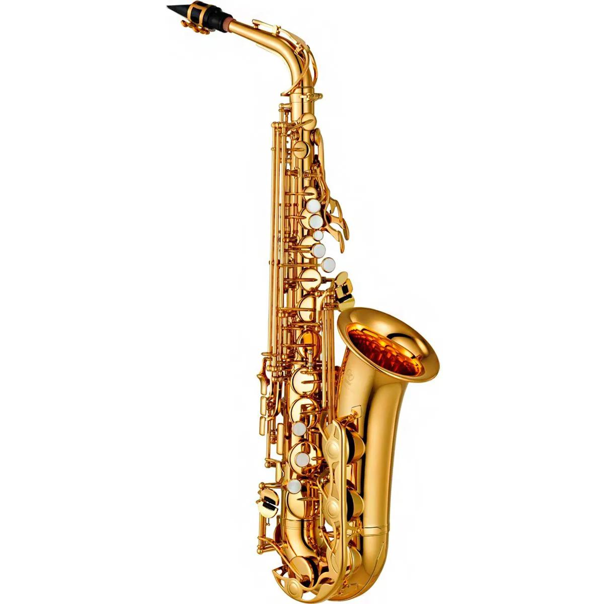 Saxofone Alto Yamaha YAS-280 Eb Laqueado Dourado com Case