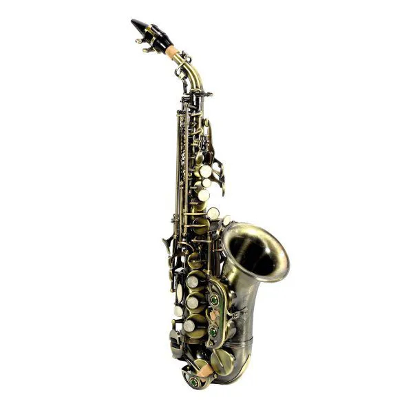 Saxofone Curvo Jahnke JSSCH001 Envelhecido Si Bemol