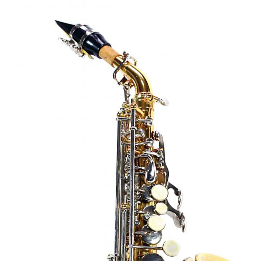 Saxofone Curvo Jahnke JSSCH001 Laqueado Niquelado Si Bemol